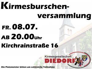 Kirmesburschenversammlung